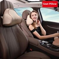 2018 Car Memory Foam Pillow Sear Neck Pillow Auto Headrest Space Memory Fabric Neck Headrest Car Covers Cushion Support Headrest