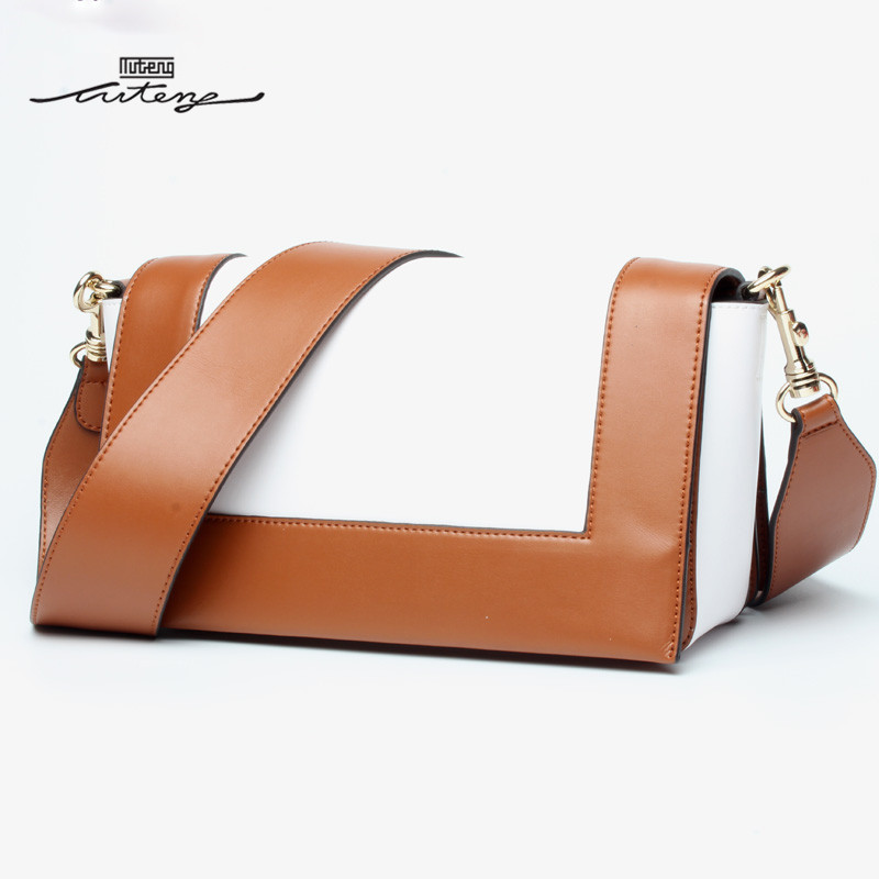 TU-TENG New Women Shoulder Bags Top Genuine Leather Bags Handbags Ladies Women Patchwork Shoulder Crossbody Bag A82007L