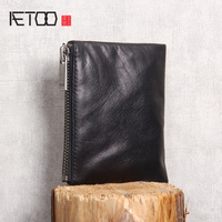 AETOO Leather coin Bag fetal cowhide small Wallet