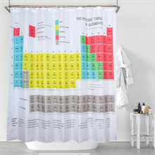 Waterproof Periodic Table Of The Elements Shower Curtain Mouldproof  Polyester Washable Bath Decor 180*180cm
