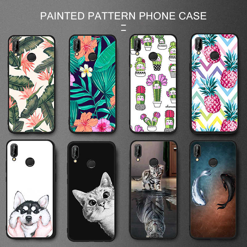 Silicone Pattern Painted TPU Case For Huawei P20 P10 P9 P8 Lite 2017 Y9 2018 Mate 10 P20 Pro Cover for Honor 8 9 Lite Capa