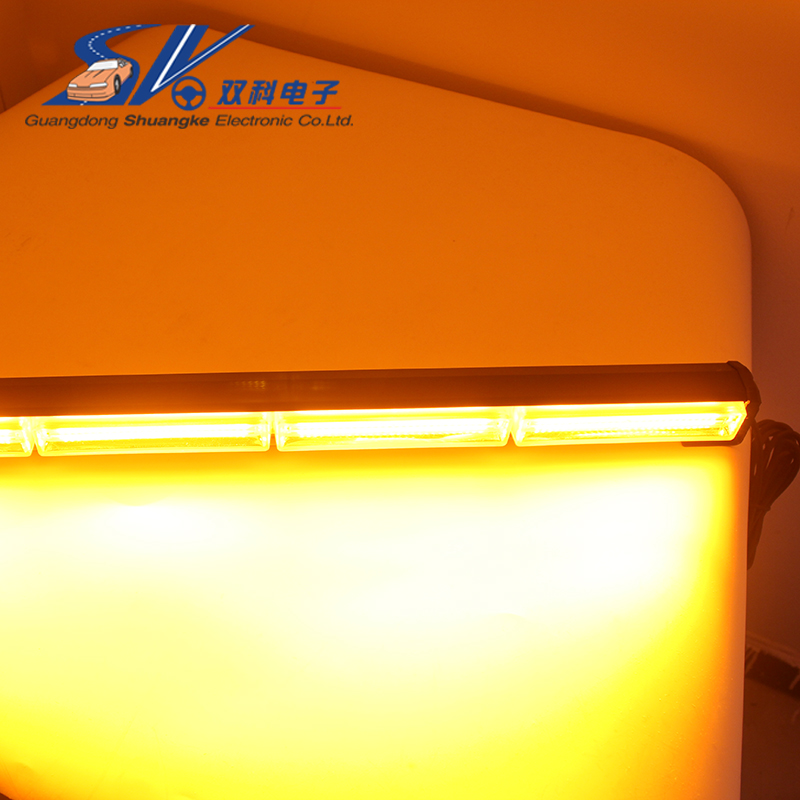 24.8 60W brightest COB Car LED strobe work warning Traffic Advisors light bar with control switch