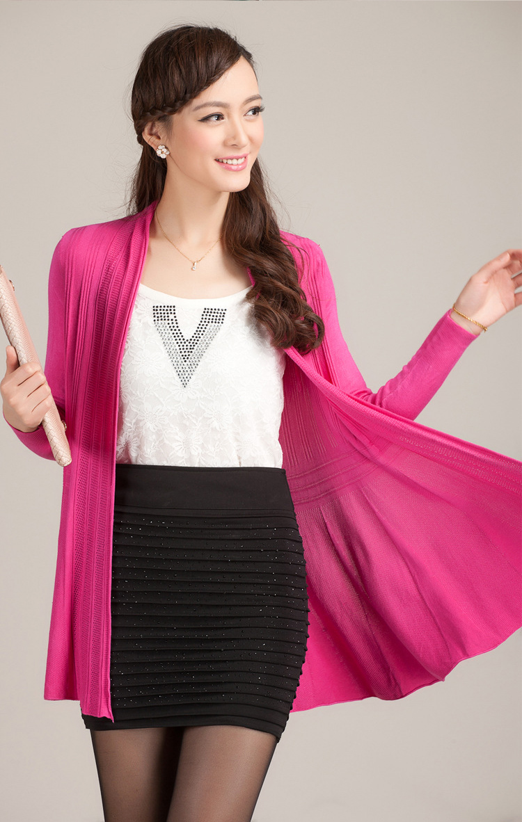 Autumn Summer Cargidan Women Medium Long Sleeve Knitted Thin ...