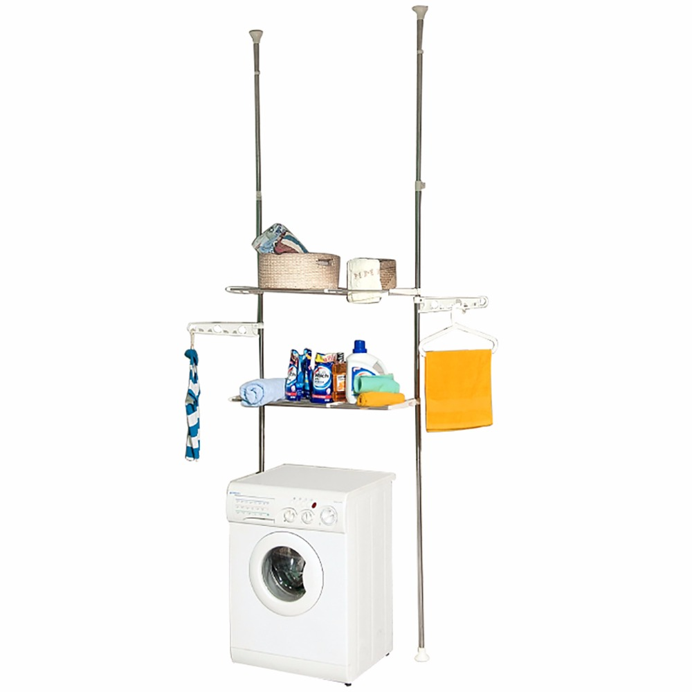 BAOYOUNI Bathroom Organizer Space Saver Over Washing Machine 2-tier Storage Rack DQ-0777-26