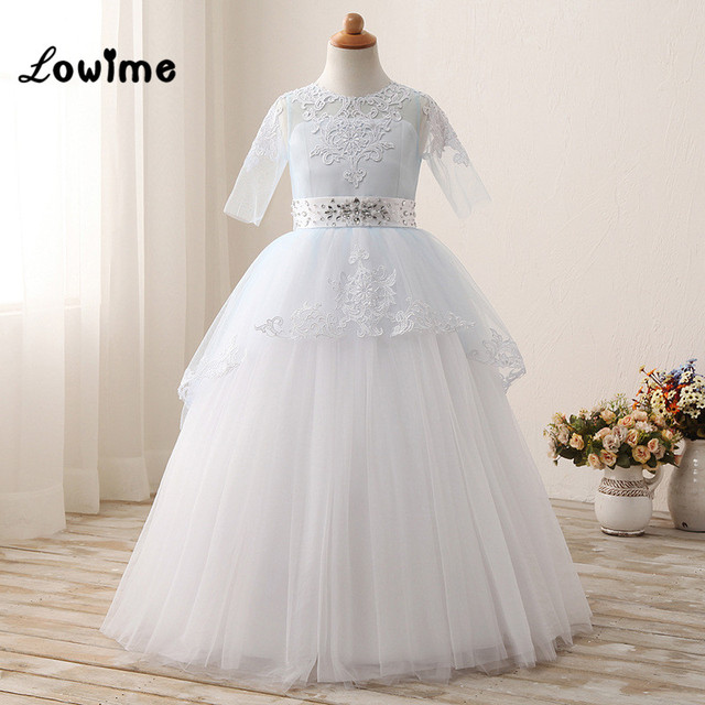 026ed94bbbf Flower Girl Dresses Vestido Daminha Cheap First Communion Dresses For Girls  Vestidos Mujer Kids Evening Gowns 2017 In Stock