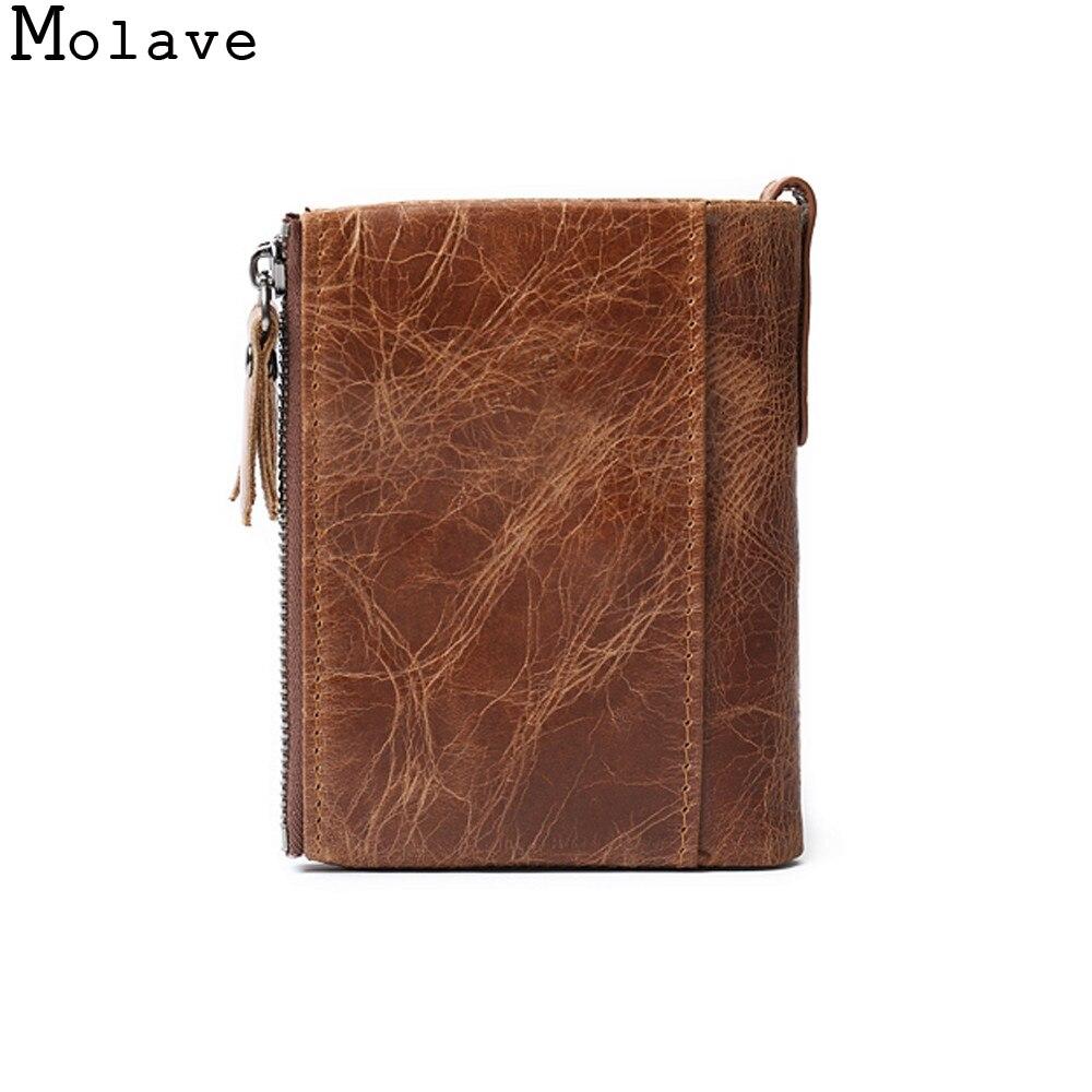 Molave кошелек Для мужчин кожа ID держатель кредитной карты сцепления Двойные Кошелек для монет карманов высокого качества Бизнес кошелек Для ...