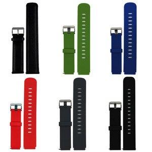 18mm xiaomi bandas substituição compatível com huawei relógio s1/ajuste/b5/lg relógio estilo pulseira para garmin active s (vivoactive 4S)