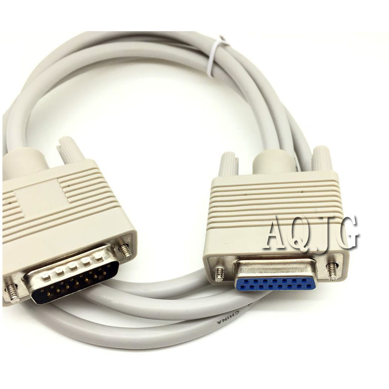DB15 Male Plug To Db15 Female Socket Extender Db15 Parallel Extension Cable AQJG