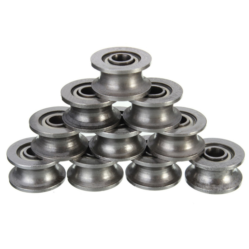 Best Price 10pcs/Set U624ZZ U Groove Sealed Ball Bearings high carbon steel Mechanical Parts Accessories 4mm x 3mm x 7mm high quality best price 22 mm mechanical seal
