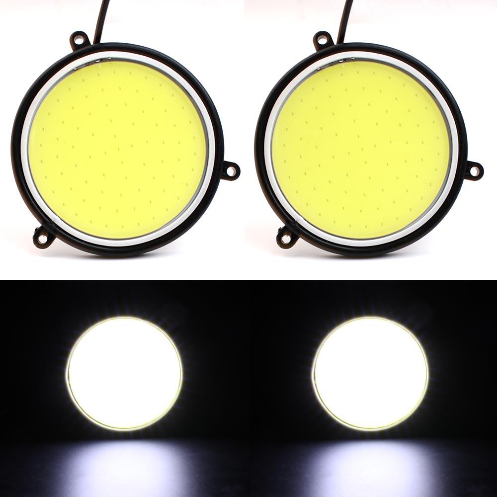 Silicone COB Led Round 90MM Eagle Eye Signal Lamp LED Light Car DRL