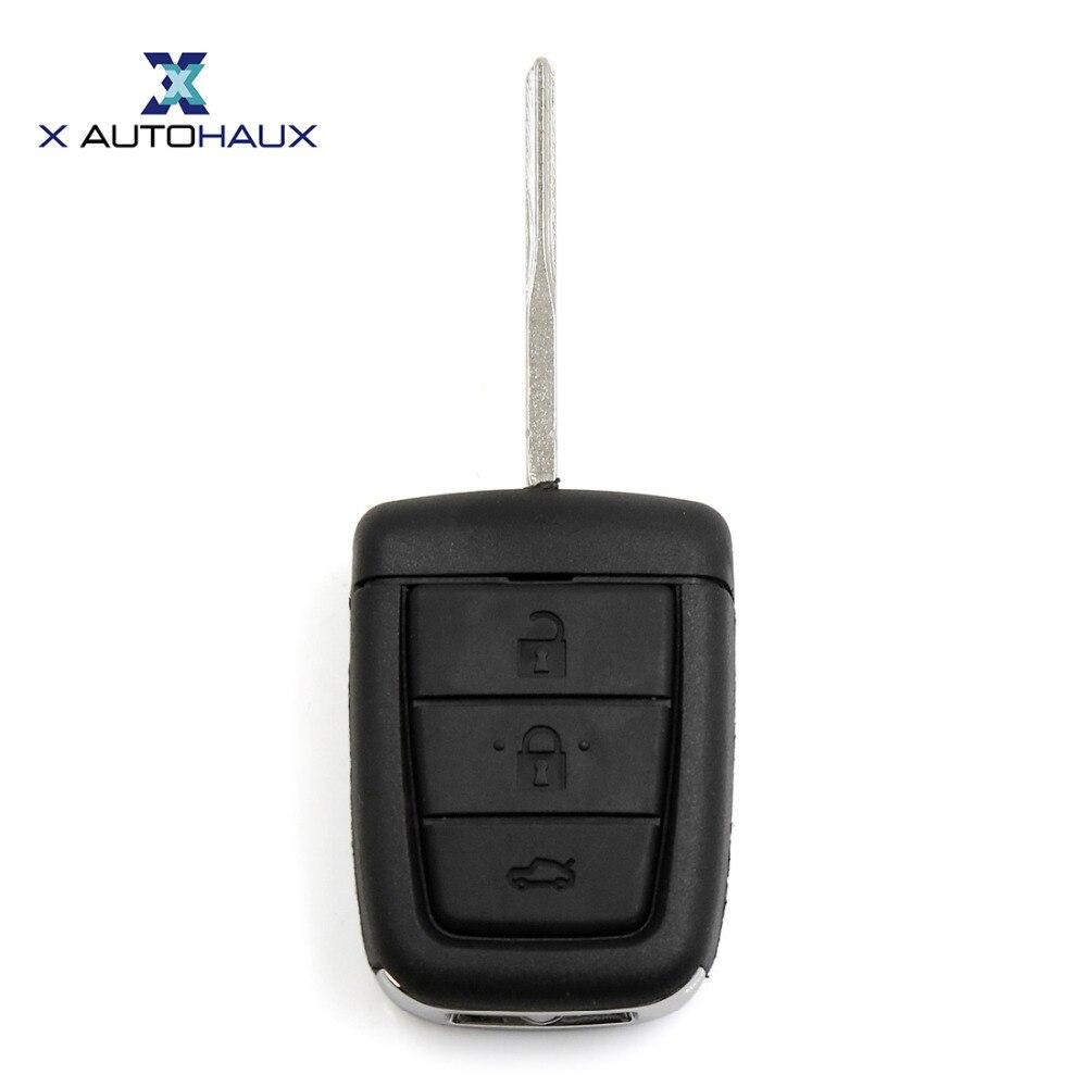 X autohaux 4 Пуговицы Uncut ключ Remote случае В виде ракушки Замена для Holden Commodore VE