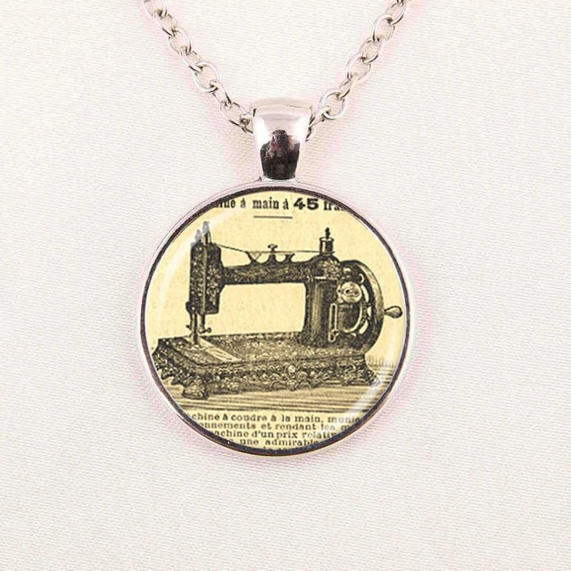 Wholesale glass dome pendant sewing machine necklace art pendant wholesale glass dome pendant sewing machine necklace art pendant machine glass dome necklacehandamde jewelry mozeypictures Image collections