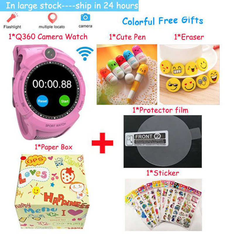 Vm50 Q360 Kids Smart Watch with Camera GPS WIFI Location Child smartwatch SOS call Tracker baby WristWatch PK Q528 Q610 Q100