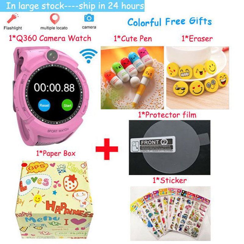 Vm50 Q360 Kids Smart Watch with Camera GPS WIFI Location Child smartwatch SOS call Tracker baby WristWatch PK Q528 Q610 Q100