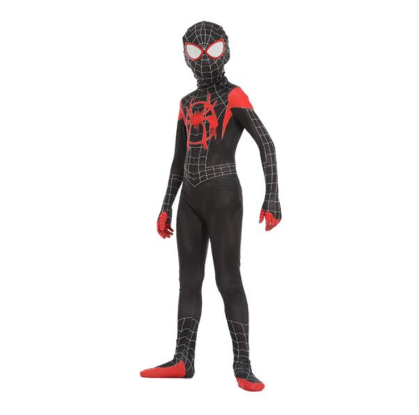 Children's costume Spiderman verses spider Miles Morales Cosplay Costume Zentai Spiderman pattern Body Bodysuits