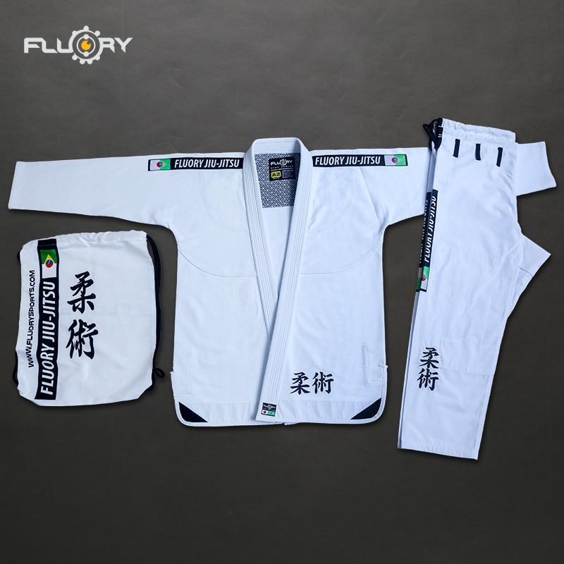 Fluory 350gsm Pearl Weave Bjj Kimonos Lightweight Trainning Brazilian Jiu-jitsu Gi 2 Colors Unisex Bjj Gis