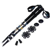 2pcs Lot 240g Pc Trek Pole Nordic Walk Cane Telescopic Alpenstock Aluminum Alloy Shooting Walking Stick