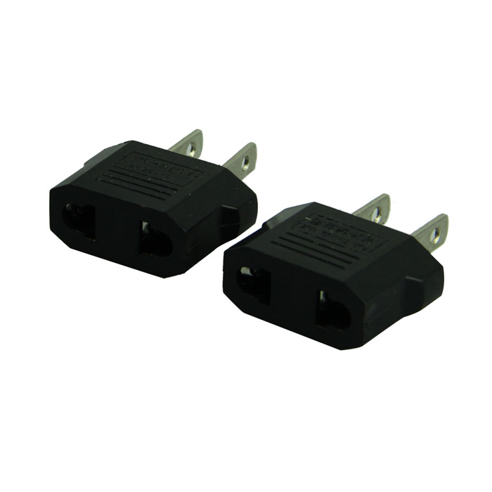 Good Sale Voberry 2pcs European to American Outlet Plug Adapter EU to US Adapter Apr 14 adapter
