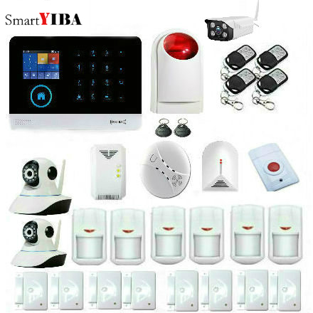 SmartYIBA Wifi Gsm GPRS RFID Home Security font b Alarm b font System Video IP Camera