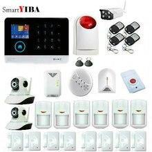 SmartYIBA Wifi Gsm GPRS RFID Home Security Alarm System Video IP Camera Alarm Gas Fire Smoke Detector Sensor APP Remote Control