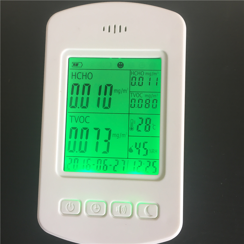 Home use Environmental Monitor PM2.5 CH2O indoor air quality monitor digital indoor air quality carbon dioxide meter temperature rh humidity twa stel display 99 points made in taiwan co2 monitor