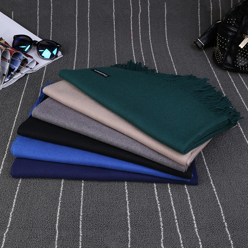 Luxury Brand Scarf Unisex 2016 Female Male Best Quality Wool Cashmere Scarf Pashmina Tassels Women Men