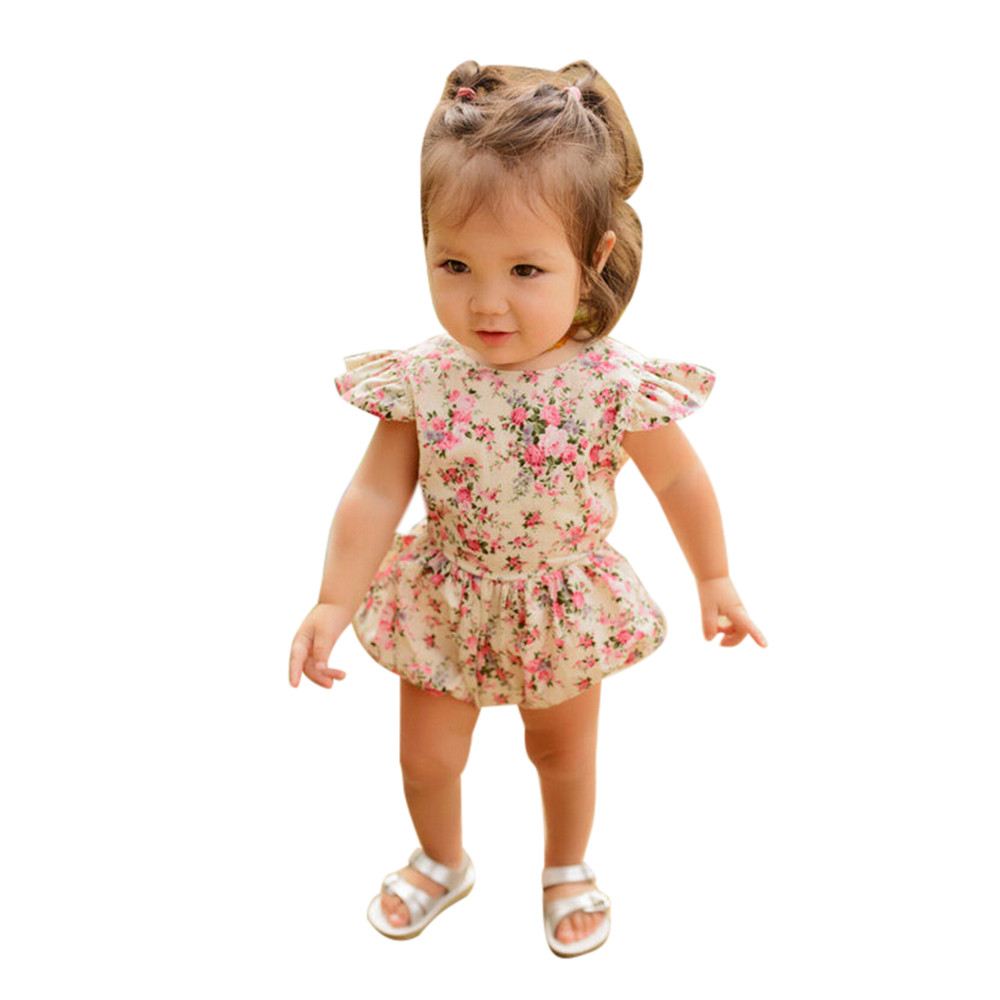 Newborn Infant Kids Baby Girls Floral Romper Jumpsuit Outfit Playsuit Clothes baby rompers baby girl clothes newborn baby backless floral jumpsuit infant girls romper sleeveless outfit