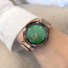 Luxury Fashion Montre Femme 2018 Rose Gold Women Elegant Minimalism Casual Wrist Watch Female Slim Mesh Steel Hour For Girl