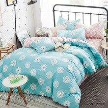 TUTUBIRD blue pink flower floral cartoon boy girls love print bedding cotton kids bed linen bedding home textile bedding sale