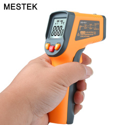 الرقمية الأشعة تحت الحمراء ميزان الحرارة عدم الاتصال IR ليزر نقطة بندقية مع الخلفية-50-400degree للصناعة استخدام مقياس الحرارة