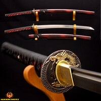 FULL HANDFORGED KO KATANA Japanese Samurai Sword Sharp DAMASCUS Folded 1024layers Steel Genuine Ray Skin Hard Wood Knife Sheath