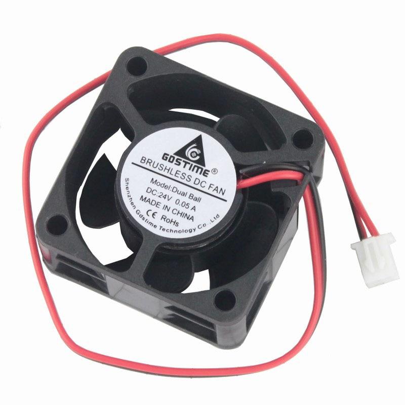 Gdstime 20 pcs 24V Dual Ball Bearing 40x20mm DC Brushless Cooling Radiator Fan 40x40mm 4020 Mini Axial Computer Fan 4cm 2 Wire