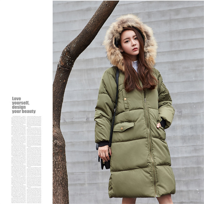 2016 Winter Jacket Women Outerwear Female Real Fur Collar new arrival women down thick casual warm slim coat parka Hot Sale 2016 winter jacket women outerwear female real fur collar new arrival women down thick casual warm slim coat parka hot sale