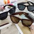 2016 Hot Fashion  Beauty Black Fashion Cool  Vintage Mens Womens 80's Unisex Black Lens Sunglasses