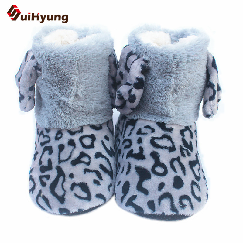 Suihyung Winter Warm Women Indoor Shoes Leopard Faxu Fur Home Slippers Plush Thermal Cotton Shoes Botas Bedroom Floor SlippersSuihyung Winter Warm Women Indoor Shoes Leopard Faxu Fur Home Slippers Plush Thermal Cotton Shoes Botas Bedroom Floor Slippers