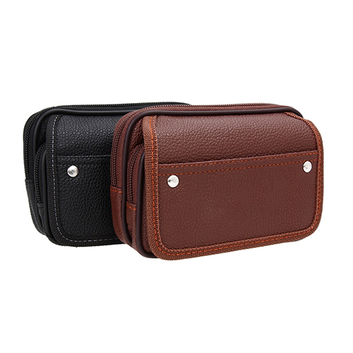 Men s Faux Leather Wallet Credit Card Phone Holder Casual Hanging Belt PurseMujer portafoglio billetera bourse