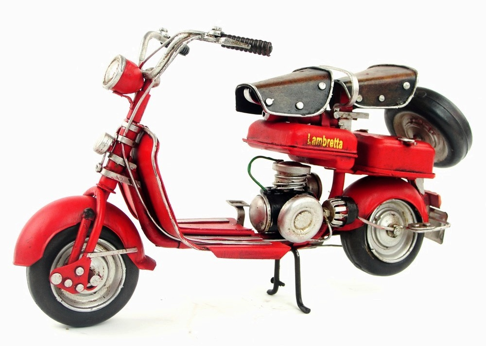 купить Handmade imitation of ancient iron Motorcycle model Lambretta Italy 1954 Toy Brinquedos Toys For Children birthday gift по цене 3410.23 рублей