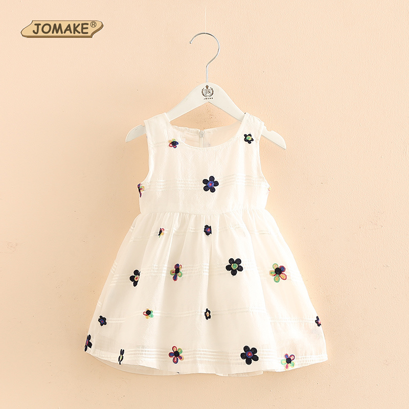 Girls Summer Dress 2017 Brand Children White Floral Dress Princess Costumes Kids Dresses For Girls Clothes Toddler Robe Fille white princess dress costumes for kids clothes 2017 brand summer girls dresses for party wedding lace high collar children dress