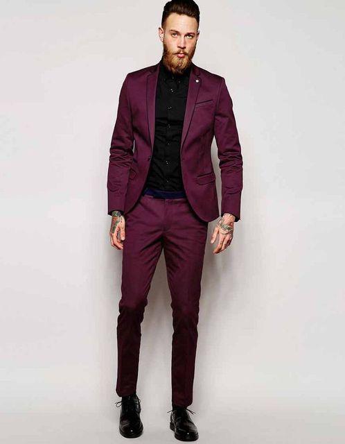 433817e6482c1 2019 Chaqueta de traje con elástico en contraste y tuberías en Super Skinny  de boda traje