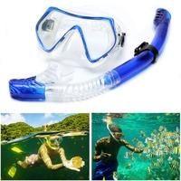 Professional Swimming Equipment Set Silicone Scuba Diving Mask Snorkel Underwater Anti Fog Goggles Dive Swim Glasses