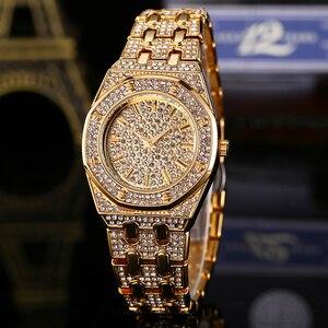 Image 2 - Tops Designer Brand Luxe Vrouwen Horloges Best Selling 2018 Producten Diamant Ap Horloge Waterdicht Vrouwen Gouden Horloge Met Gift Box