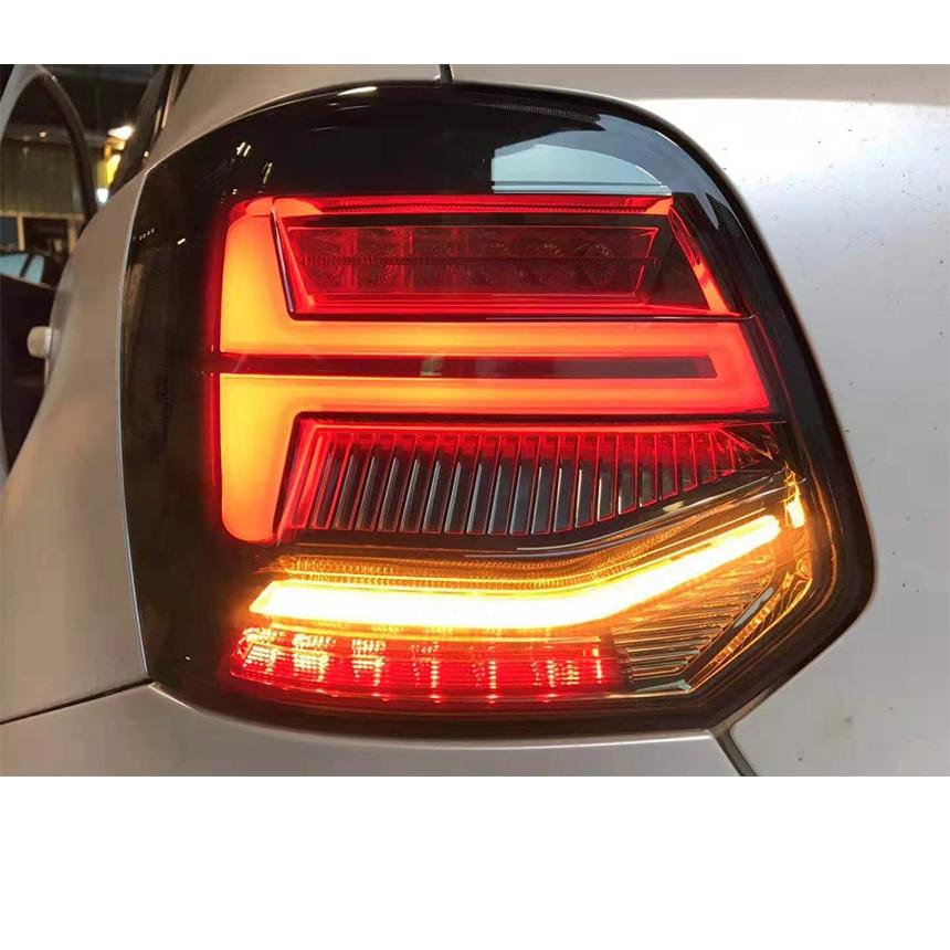 VLAND CAUDA Do Carro LEVOU LUZ PARA VOLKSWAGEN 2011-2019 taillight para VENTO POLO MK5 real luz DRL + Sinal + freio + Reverter luzes de Nevoeiro
