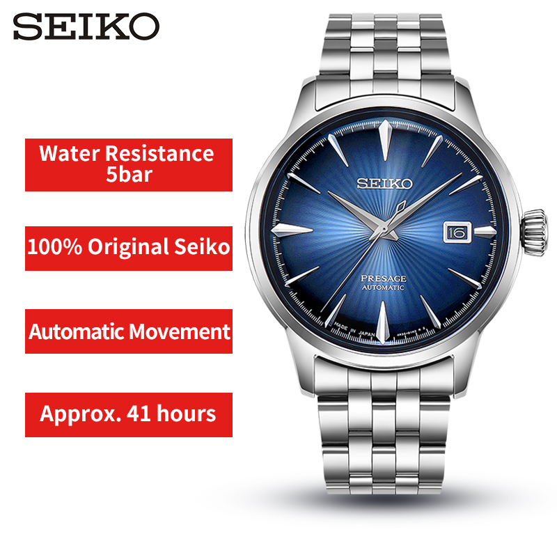 100% Original Seiko Business Mens Watch Automatic Movement Wristwatches Stainless Steel 5Bar Water Resistance Global Warranty 100% Original Seiko Business Mens Watch Automatic Movement Wristwatches Stainless Steel 5Bar Water Resistance Global Warranty