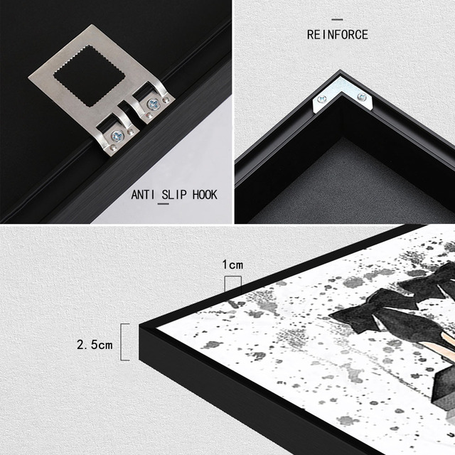 Aluminum Alloy Painting Out Frame for Canvas Prints Wall Picture for Home Decor 4 Colors Hang on Wall Directly