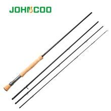 Voar vara de pesca alta carbono 9ft 2.7m 4 seções flyfishing haste linha wt 5/6 7/8 cortiça macia lidar com vara de pesca alta qualidade