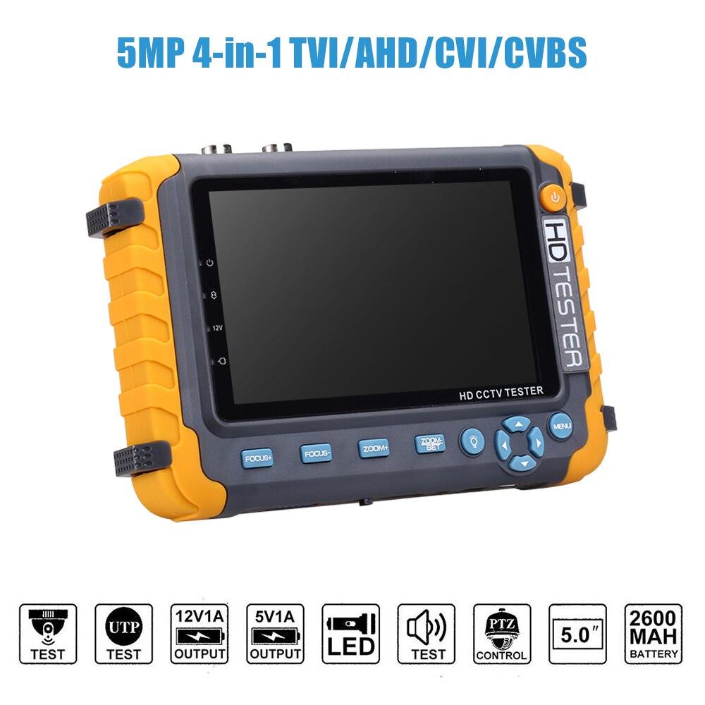 Moniteur cctv testeur 5 pouces TFT 1080 P TVI AHD CVI analogique CCTV testeur de sécurité caméra testeur moniteur HDMI entrée lcd cctv moniteur