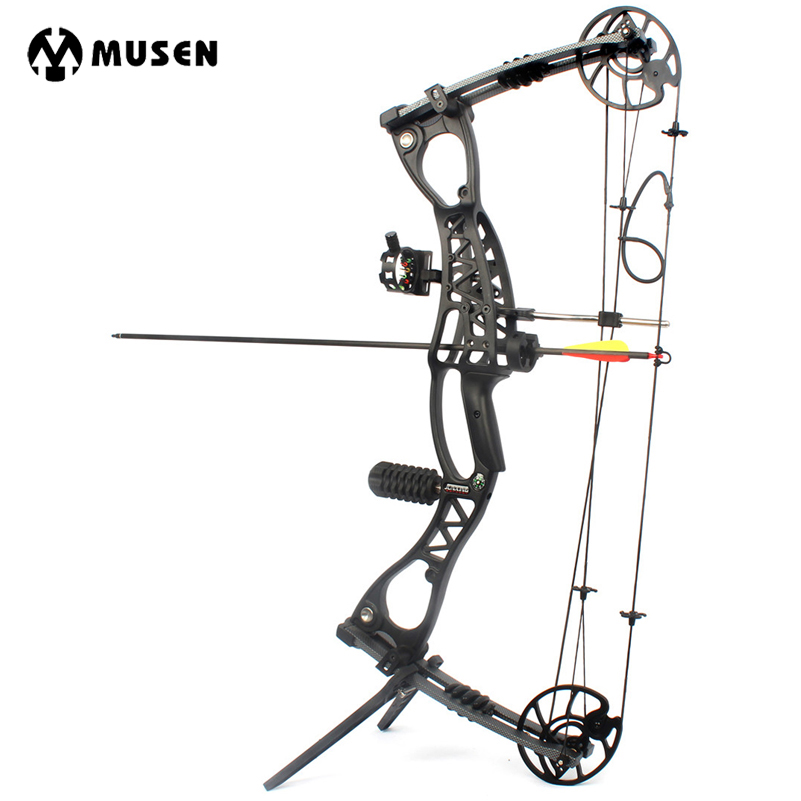 Compound Bow Archery Hunting Arrow Set Right Hand With 40-65lbs Draw Weight For Human Outdoor Shooting wholesale archery equipment hunting carbon arrow 31 400 spine for takedown bow targeting 50pcs