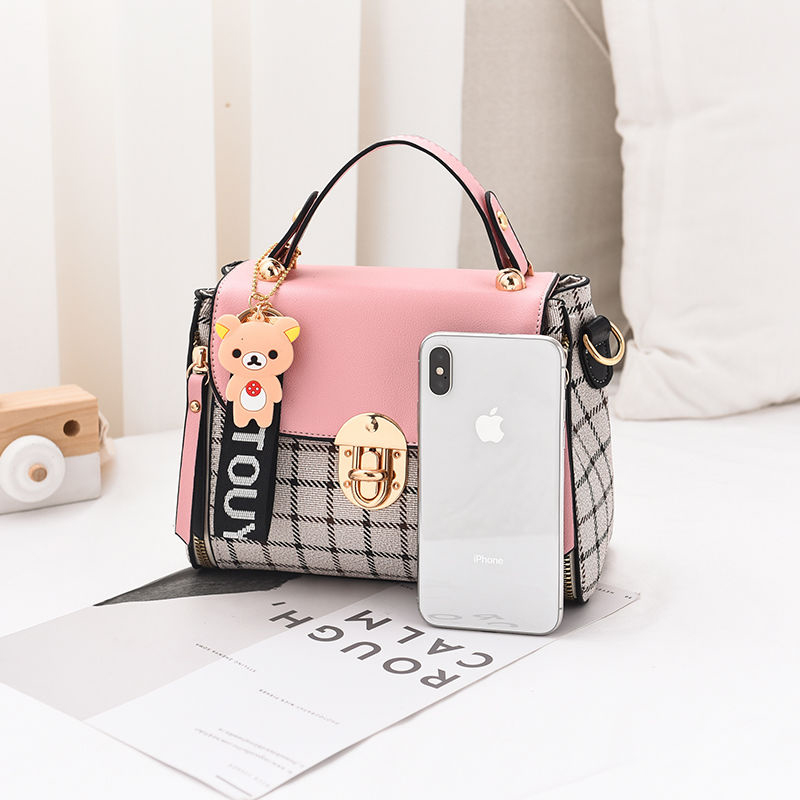 New Cute Type Ladies PU Handbag High Quality 2019 Hot Sale Small Girls Exquisite Color Matching Casual Fashion Small Square Bag 6
