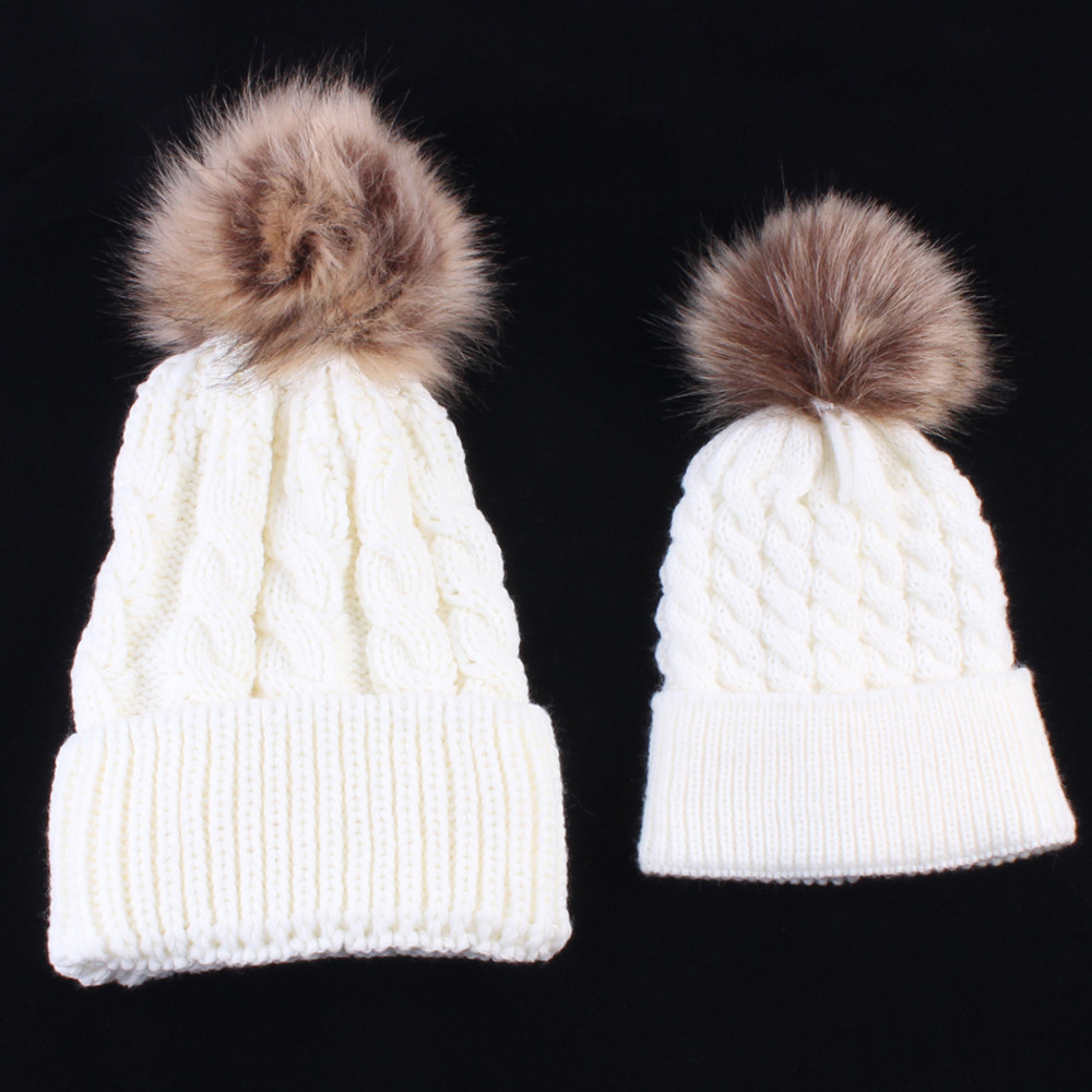 10fe6361d7c Detail Feedback Questions about 2PCS Mom And Baby Matching Knitting ...