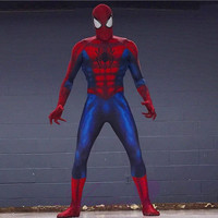 Newest Spiderman Costume 3D Printing Spiderman Costumes Cosplay Spandex Zentai Suit Halloween Ultimate Amazing Costume CS020430